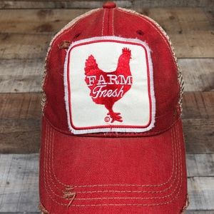 Farm Fresh Mason Jar Label Distressed Snap Back
